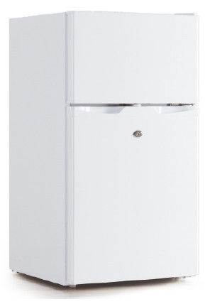 85L/95L Double Door Manual Defrost Low Noise Mini Refrigerator With Cold Storage Function