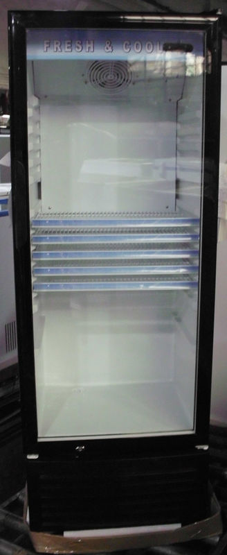 Auto Defrost Beverage Cooler Refrigerator With Self Closing Glass Door,350L Commercial Fridge without Canopy