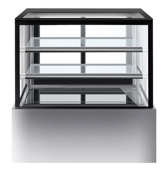 1800mm Two Layers Refrigerated Cake Cabinet Fan Forced Ventilation